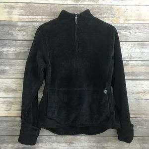 The North Face Black 1/4 Zip Mossbud Fleece